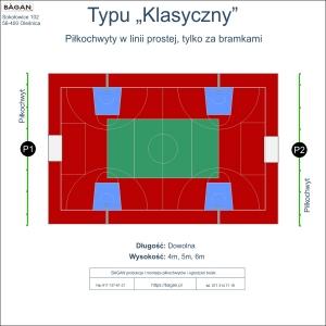 """Boisko szkolne - piłkochwyty - Typ """"Klasyczny"""""""