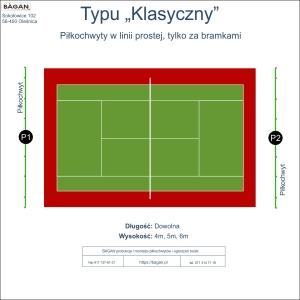 """Kort do tenisa - piłkochwyty - Typ """"Klasyczny"""""""