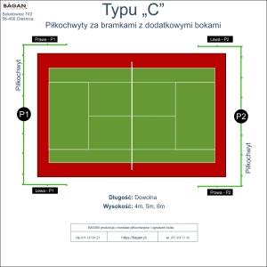 """Kort do tenisa - Piłkochwyty - Typu """"C"""""""