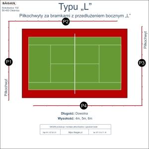 "Kort do tenisa - Piłkochwyty - Typu ""L"""