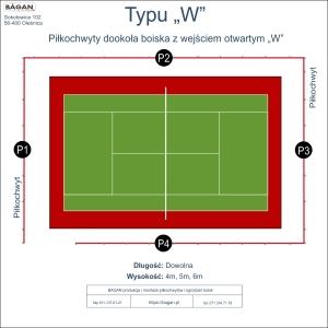 """Kort do tenisa - Piłkochwyty - Typu """"W"""""""