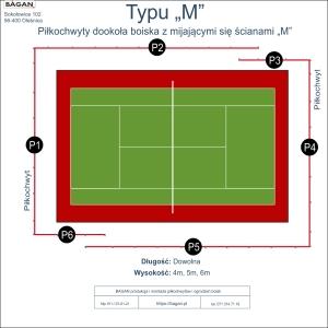 """Kort do tenisa - Piłkochwyty - Typu """"M"""""""