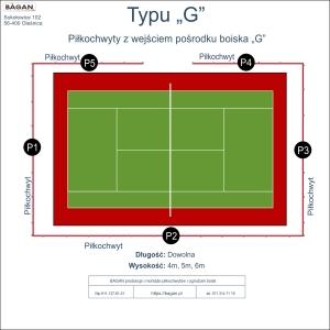"""Kort do tenisa - Piłkochwyty - Typu """"G"""""""