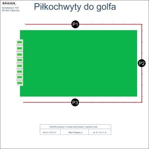 Pole golfowe - strzelnica do golfa - Piłkochwyty