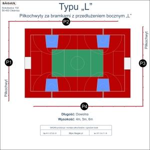 """Boisko szkolne - Piłkochwyty - Typu """"L"""""""