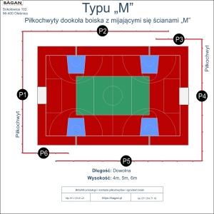 """Boisko szkolne - Piłkochwyty - Typu """"M"""""""