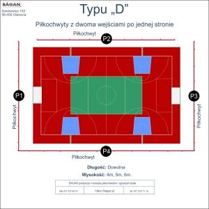 """Ogrodzenie boiska - Typu """"D"""" - w formie piłkochwytów"""