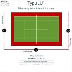 """Ogrodzenie kortu do tenisa - Typu """"U"""""""