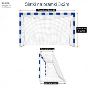 Siatki na bramki 3x2m - podaj wymiary bramki