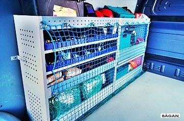 Siatki do zabezpieczenia narzędzi w busie - siatka na regał narzędziowy do busa
