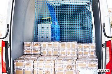 Siatka do zabezpieczenia przestrzeni załadunkowej na naczepie i przyczepach ciężarowych