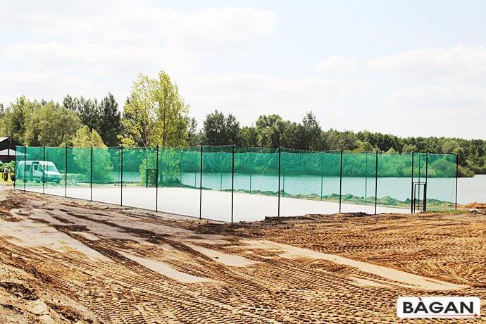 Ogrodzenie, konstrukcja na boisko