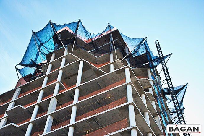 Siatka budowlana - zabezpieczenie prac na wysokości