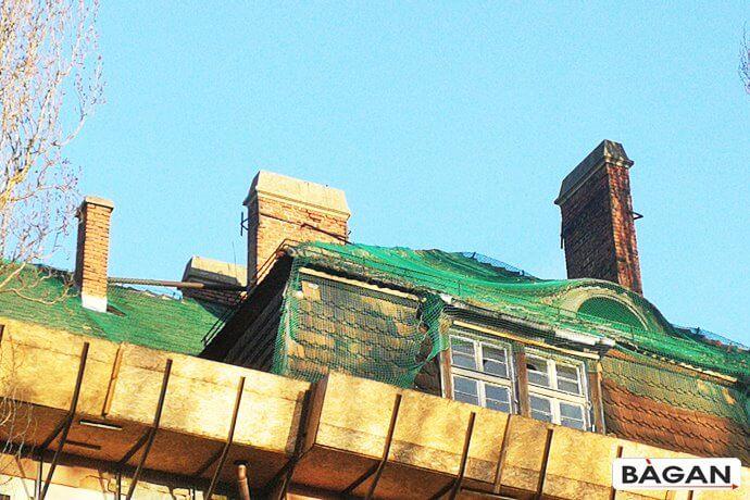 Siatki - Zabezpieczenie elewacji budynku