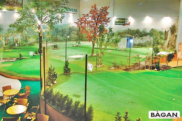 Ogrodzenie do mini golfa na strzelnice golfowe